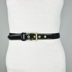 BCBG Black Faux Leather Suede Belt